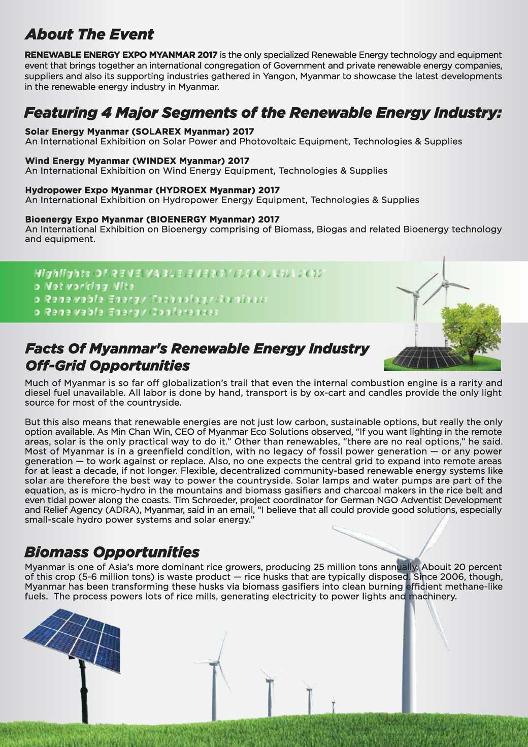 Renewable Energy Expo 2017 - Exhibition in Myanmar